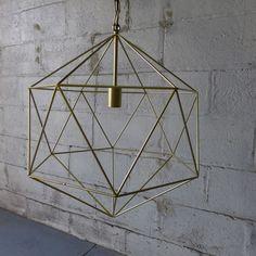 Mid Century Modern styled Large Cage CHANDELIER pendant LAMP https://emfurn.com/