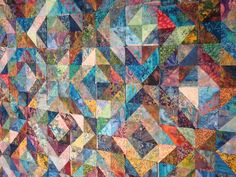batik quilt for Kelly & Jon   Pinning this because I have no clue who this pinned is...but I love the way they think :)
