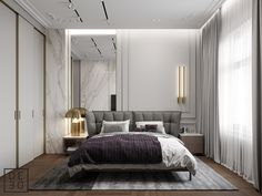 Here is the most trending bedroom interior design concept for this year. Modern Classic Bedroom, Modern Bedroom Design, Contemporary Bedroom, Modern Classic Interior, Modern Contemporary, Modern Design, Casa Art Deco, Home Bedroom, Bedroom Decor