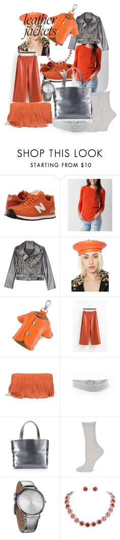 """Leather love"" by lerp ❤ liked on Polyvore featuring New Balance Classics, Billabong, WithChic, Olive & Pique, Moda Luxe, White House Black Market, Avon, Kate Spade and RumbaTime"