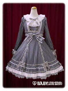 Baby, the stars shine bright Ex libris Pinocchio stripe one piece dress