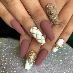 36 Trendy as well as Appealing Marble Coffin Nails Design - - 36 Trendy as well as Appealing Marble Coffin Nails Design – Page 24 – My Beauty Note Matte Nails, Glam Nails, Beauty Nails, Acrylic Nails, Acrylics, Gorgeous Nails, Pretty Nails, Hair And Nails, My Nails