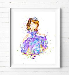 FROZEN DISNEY PRINCESS CASTLE  MODERN SPLASH ART PRINT POSTER GIRLS ROOM A4