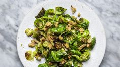 The coveted Brussels sprout side dish that requires watching football to prep.