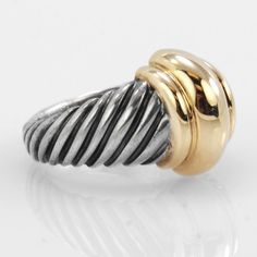 David Yurman Lady's   14k Sterling Silver and Gold Fashion  Ring