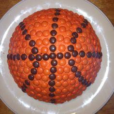 Reese Pieces basketball cake!