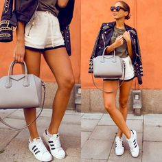 🙆🏻 #fashion #style #givenchy #bag #adidas #sneakers #woman #leather #jacket