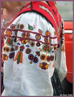 Kim Marie's Embroidery: dokudoki: Female sleeve embroidery across. Folk Costume, Costumes, Contemporary Decorative Art, Cross Stitch Bird, Fashion Art, Fashion Design, Bobbin Lace, Traditional Outfits, Tattoo Inspiration