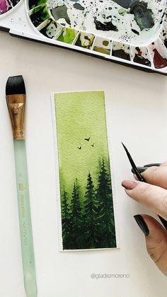 Watercolor Landscape, Simple Watercolor, Watercolor Trees, Watercolor Animals, Watercolor Background, Abstract Watercolor, Watercolor Pencils, Watercolor Bookmarks, Watercolors
