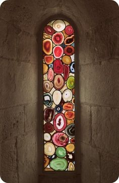 stained glass - agate stones