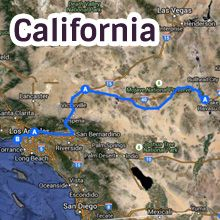 California Route 66 Map