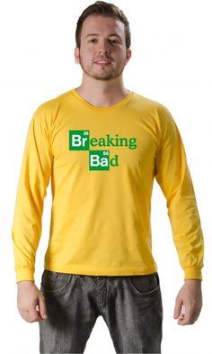 Camiseta Breaking Bad Logo - Reis Online Camisetas Personalizadas