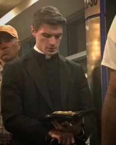 Forget the partridge in a pear tree — on the first day of Christmas, what I really want is a bearded-husband in a grey tweed. Priest Costume, Guys Read, Catholic Priest, Man Images, Character Inspiration, Books To Read, Reading Books, Sexy Men, Hot Guys