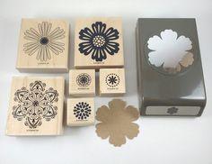 Stampin Up Mixed Bunch & Blossom Flower Punch Wood Mount Stamp Set Bundle #StampinUp