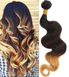 5Bundles 3Tone 1B/4/27# Human Hair Extension 12 14 16 18 20  Brazilian 50g/pcs