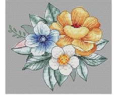 Needlepoint Canvas Handpainted Wedding Rings Cross on Cat Cross Stitches, Counted Cross Stitch Patterns, Cute Cross Stitch, Cross Stitch Flowers, Back Stitch, Needlepoint Canvases, Hand Painted, Embroidery, Etsy