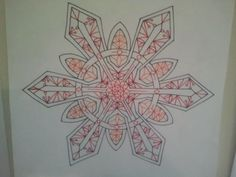 Even if you color it orange and red, a six pointed start will always look like a snowflake.
