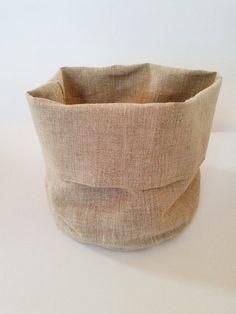 Linen bread basket  Natural grey linen bread by HomelyHomeDecor, $30.00