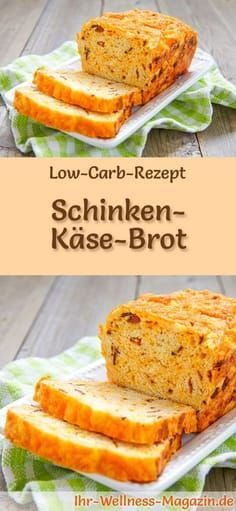 Rezept für Low Carb Schinken-Käse-Brot: Kohlenhydratarm, ohne Getreidemehl, ge… Recipe for Low Carb Ham and Cheese Bread: Low in carbohydrates, without flour, healthy and well tolerated … carb bake Ham And Cheese Bread Recipe, Bread Recipes, Baking Recipes, Easy Dinner Recipes, Appetizer Recipes, Easter Recipes, Dinner Ideas, Low Calorie Recipes, Healthy Recipes