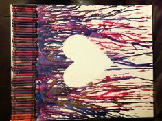 crayon melted heart