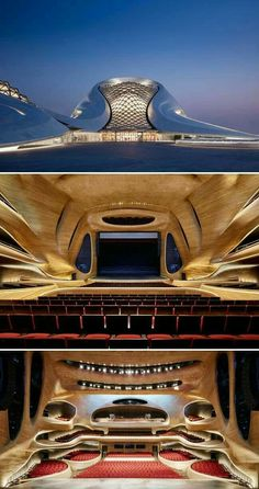 Harbin Opera House by MAD Architects is part of architecture Plan Tree Layout - Harbin Opera House was designed by MAD Architects that has an architecture seamlessly blends with surrounding landscape to create a dramatic cultural center of the future Architecture Paramétrique, Futuristic Architecture, Beautiful Architecture, Contemporary Architecture, Harbin, Building Design, Public Square, Design Trends, Interior Design