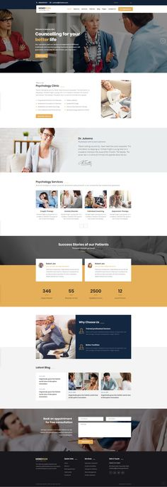 Buy Mindron - Psychology & Counseling HTML Template by ThemeArc on ThemeForest. Mindron HTML is best suite for psychology clinics, psychology firms and individual psychologists, and therapist. Psychology Websites, Psychology Clinic, Web Design Mobile, Design Ios, Flat Design, Seo Website Design, Website Design Inspiration, Ui Inspiration, Best Website Templates