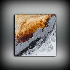 This is a FINE ART GICLEE PRINT  #PRT1064  Title: Stormy Collection  Shades of Black, Gray, Silver, Copper and White  Each piece is signed and dated by the artist  The drop down menu on the upper left of the listing shows a variety of sizes and materials available. You may choose Fine Art Paper, Canvas, or Metallic Canvas.  This print is MADE TO ORDER and can come in multiple sizes that are not listed. If you would like a custom size feel free to convo me and I can give you a quote and…