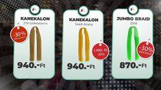 AFROline Black Friday novemberi 30%-os akció. Jumbo Braid Kanekalon Pomade hajwax Kanekalon Jumbo Braid, Jumbo Braids