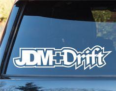 JDM Plus Drift Car Window Windshield Lettering Decal Sticker Decals Stickers ...