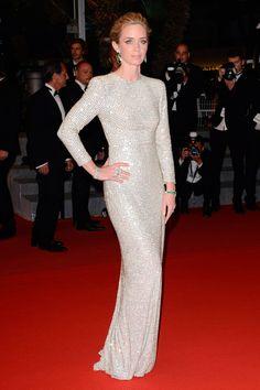 Emily Blunt en un vestido metalizado de Stella McCartney. #Cannes2015