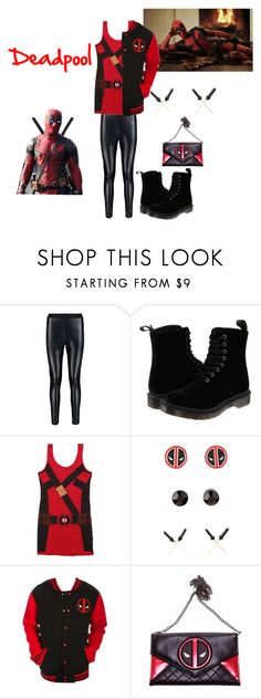 Everyday cosplay: Deadpool by onceuponamersuperwholock on Polyvore featuring Marvel, Boohoo and Dr. Martens