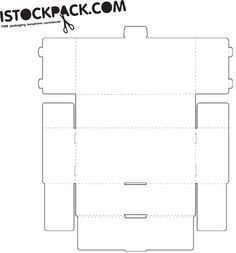 rectangle box with lid - template