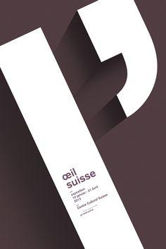 Affiche l'Œil Suisse proposition n°2 Web Design, Design Graphique, Grafik Design, Typography, Cards Against Humanity, Symbols, Letters, Ads, Twins