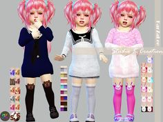 Sims 4 CC's - The Best: Lace and animals socks for kids and toddler by Kar...
