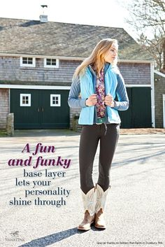 SmartPak Spring 2012 Look Book - A fun and funky base layer lets your personality shine through