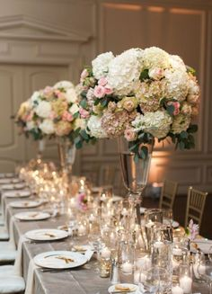 This Dallas wedding from Nicole Berrett Photography is filled with stunning details created by Abbie O Events. Wedding Reception Centerpieces, Wedding Table Centerpieces, Floral Centerpieces, Wedding Decorations, Reception Table, Centerpiece Ideas, Floral Arrangements, Taupe Wedding, Mod Wedding