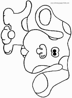 blues clues blues clues dog coloring pages