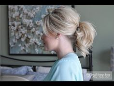 The Fancy Ponytail - LOVE it - thank you Kate from The Small Things blog!!