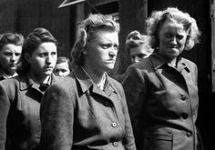 Some of the S.S. women whose brutality was equal to that of their male counterparts at the Bergen-Belsen concentration camp in Bergen, Germany, on April 21, 1945.