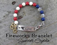 Fireworks Bracelet featuring Swarovski Crystals and TierraCast   Loose Ends