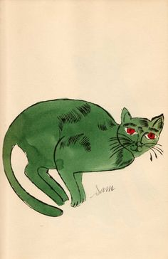 remember andy warhol cat drawings?