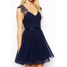 Trendy Style Sleeveless Lace Splicing Solid Color Backless Women's Dress