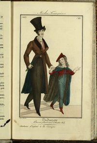 Petit Courrier des Dames : annonces des modes, des nouveautés et des arts del 31 de Diciermbre de 1822. Figurines