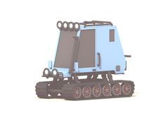 Amphibious Vehicle (update) designed by Timothy J. Super Tank, Low Poly Car, Amphibious Vehicle, Cute Cars, Funny Cars, Low Poly Models, Car Humor, 3d Design, Pixel Art