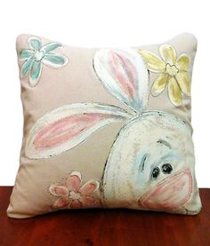 Pillow Cover Easter Bunny Easter Home by SippingIcedTea on Etsy