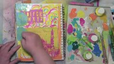 Getting rid of my stress by art journaling