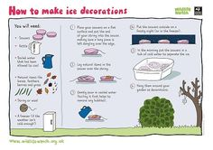 How to make ice decorations