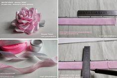 Olha que rosinha mais fofa e linda essa... RETIRADO DO SITE: http://www.usefuldiy.com/pt/diy-satin-and-organza-ribbo...