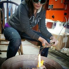 Late night casting 25 new rings in yellow, white and rose gold! I love playing with fire, it is like doing magic! After 5 hours in the kiln I melt and spin the gold into brand new one of a kind works of art. Many new engagement rings are on the way!