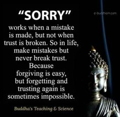 Sorry doesn't fix broken trust Buddha Quotes Inspirational, Positive Quotes, Motivational Quotes, Buddhist Quotes Love, Buddha Quotes Life, Quote Life, Quotable Quotes, Wisdom Quotes, True Quotes